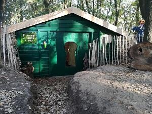 Het Bonte Aarde huisje in het Avonturenbos